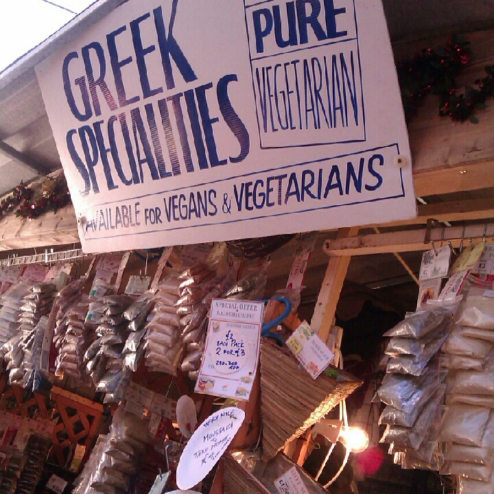 Greek stall at Glasgow Christmas Market
