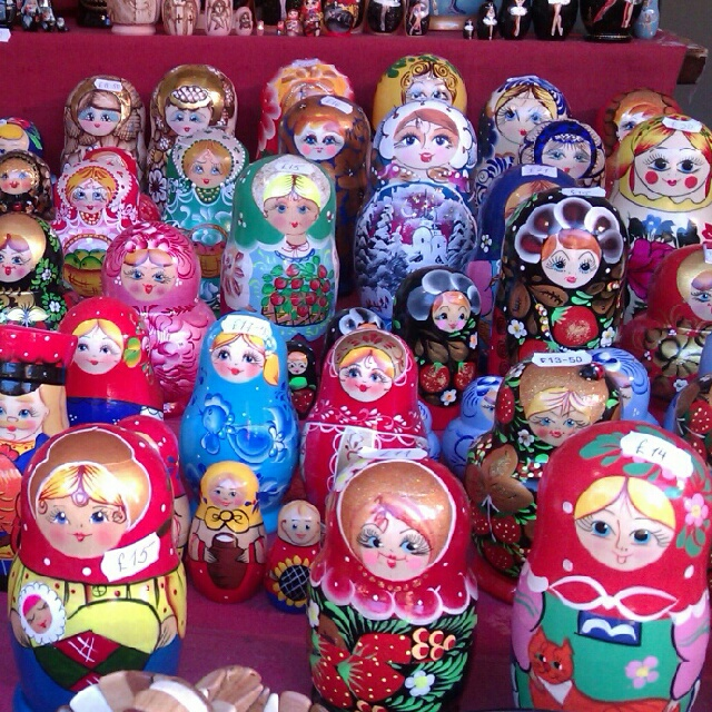 Russian doll stall at Glasgow Christmas Market