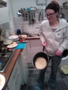 Pancake in the pan