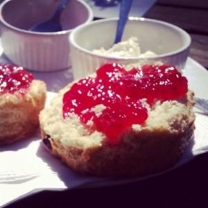 Fruit scone, jam and cream? Yes please :)